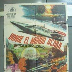 Cine: CDO 4989 DONDE EL MUNDO ACABA ISHIRO HONDA TOHO SCI-FI POSTER ORIGINAL 70X100 DEL ESTRENO. Lote 217359586