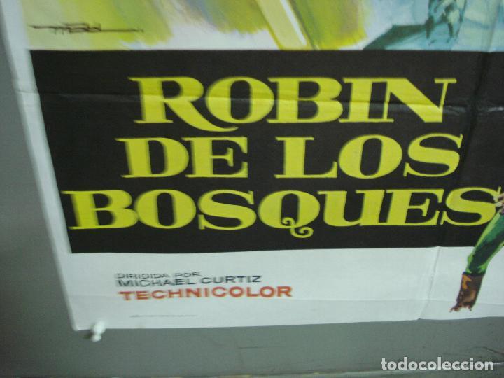 Cine: CDO 4990 ROBIN DE LOS BOSQUES ERROL FLYNN MAC POSTER ORIGINAL 70X100 ESPAÑOL R-78 - Foto 5 - 217371042