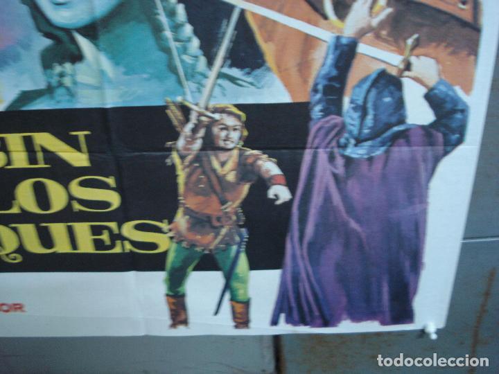 Cine: CDO 4990 ROBIN DE LOS BOSQUES ERROL FLYNN MAC POSTER ORIGINAL 70X100 ESPAÑOL R-78 - Foto 9 - 217371042