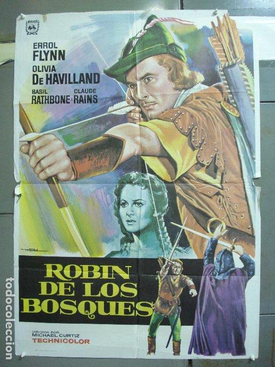 CDO 4990 ROBIN DE LOS BOSQUES ERROL FLYNN MAC POSTER ORIGINAL 70X100 ESPAÑOL R-78 (Cine - Posters y Carteles - Aventura)