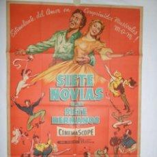 Cine: SIETE NOVIAS PARA SIETE HERMANOS - 1955 - 110 X 75. Lote 217409050