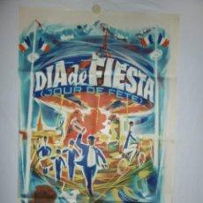 Cinéma: DIA DE FIESTA - JACQUES TATI - 1949 - 110 X 75. Lote 217409241