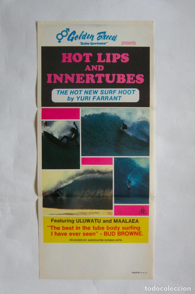 CARTEL ORIGINAL AUSTRALIA / SURF / HOT LIPS & INNERTUBES / 1976 / 34X76 CM (Cine - Posters y Carteles - Documentales)
