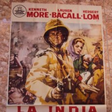 Cinema: (CINE-479)LA INDIA EN LLAMAS LAUREN BACALL KENNETH MORE CIFESA POSTER ORIGINAL. Lote 217460467