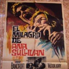 Cine: (CINE-485)EL MILAGRO DE ANA SULLIVAN ANNE BANCROFT PATTY DUKE MAC POSTER ORIGINAL. Lote 217462006