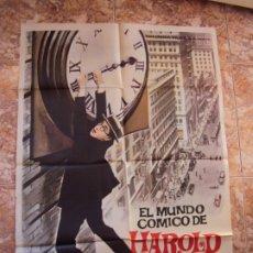 Cine: (CINE-491)EL MUNDO CÓMICO DE HAROLD LLOYD. CARTEL ORIGINAL 1962. Lote 217463532