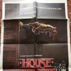 Cine: HOUSE, UNA CASA ALUCINANTE. CARTEL ORIGINAL. WILLIAM KATT, GEORGE WENDT. Lote 217611158