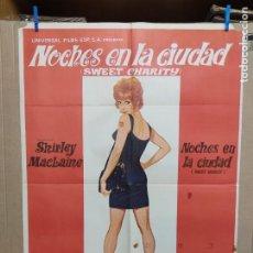 Cine: NOCHES EN LA CIUDAD -SHIRLEY MACLAINE BOB FOSSE POSTER ORIGINAL 70X100 ESTRENO. Lote 217632883