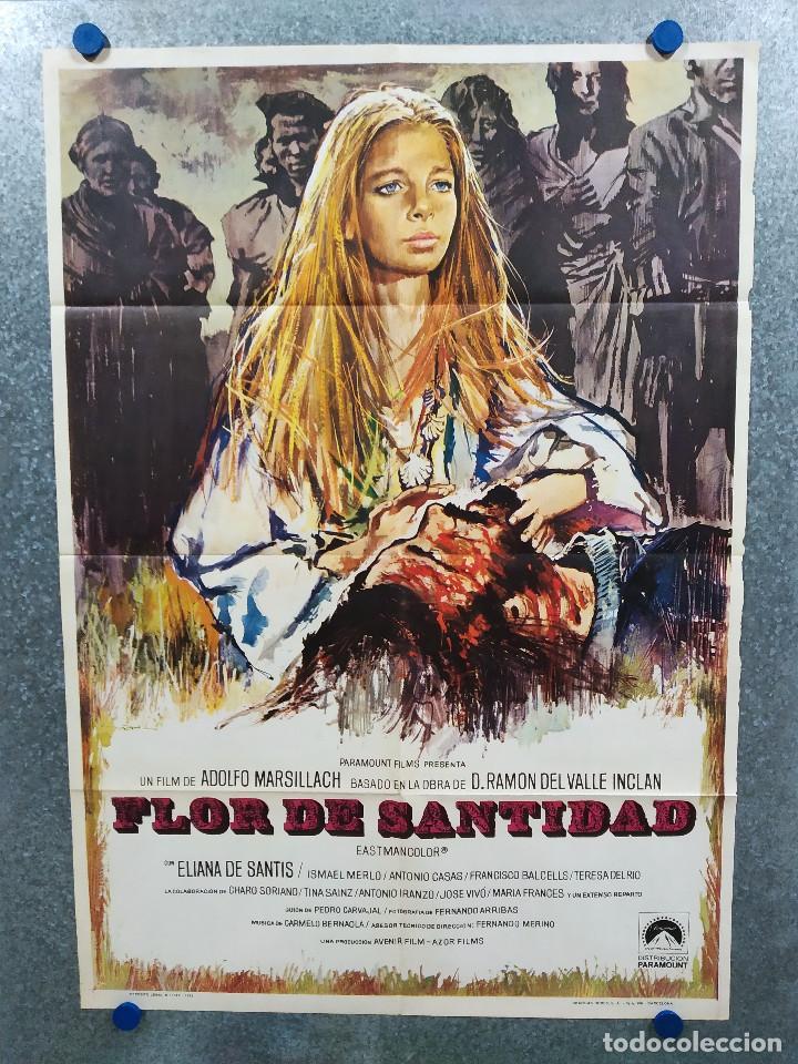 FLOR DE SANTIDAD. ELIANA DE SANTIS, ISMAEL MERLO, ANTONIO CASAS. AÑO 1973. POSTER ORIGINAL (Cine- Posters y Carteles - Drama)