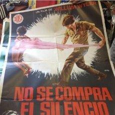 Cine: CARTEL NO SE COMPRA EL SILENCIO. Lote 217699063