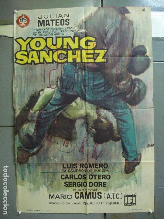 CDO 5011 YOUNG SANCHEZ BOXEO CINE ESPAÑOL JULIAN MATEOS IQUINO POSTER ORIGINAL 70X100 ESTRENO (Cine - Posters y Carteles - Deportes)