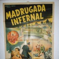 Cine: MADRUGADA INFERNAL - 110 X 75 - 1953 - LITOGRAFICO. Lote 217771013