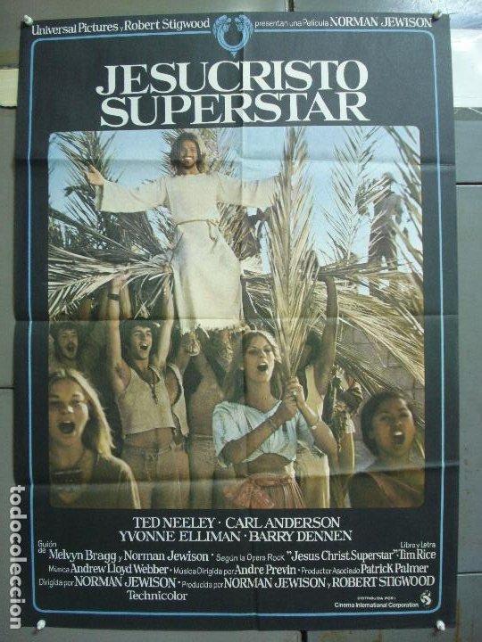 CDO 5065 JESUCRISTO SUPERSTAR NORMAN JEWISON TED NEELEY ORIGINAL 70X100 ESTRENO (Cine - Posters y Carteles - Musicales)