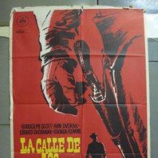 Cine: CDO 5071 LA CALLE DE LOS CONFLICTOS RANDOLPH SCOTT MAC POSTER ORIGINAL 70X100 ESPAÑOL R-63. Lote 217812711