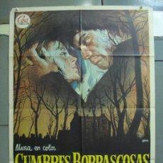 Cine: CDO 5073 CUMBRES BORRASCOSAS TIMOTHY DALTON ANNA CALDER-MARSHALL JANO POSTER ORIGINAL 70X100 ESTRENO. Lote 217814470