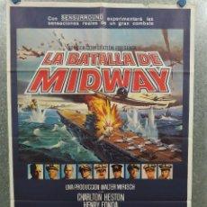Cinema: LA BATALLA DE MIDWAY. CHARLTON HESTON, HENRY FONDA, JAMES COBURN. AÑO 1976. POSTER ORIGINAL. Lote 217841577