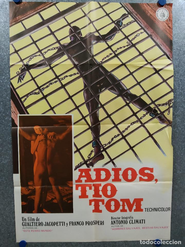 ADIÓS TÍO TOM. GUALTIERO JACOPETTI, FRANCO PROSPER, ESCLAVITUD. AÑO 1980. POSTER ORIGINAL (Cine - Posters y Carteles - Documentales)