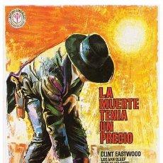 Cine: LA MUERTE TENÍA UN PRECIO (POSTER). Lote 217898950