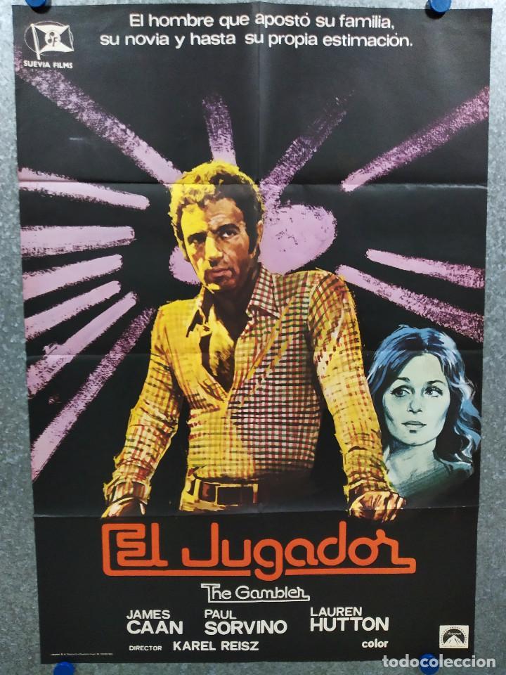 EL JUGADOR. JAMES CAAN, PAUL SORVINO, LAUREN HUTTON AÑO 1976. POSTER ORIGINAL (Cine- Posters y Carteles - Drama)