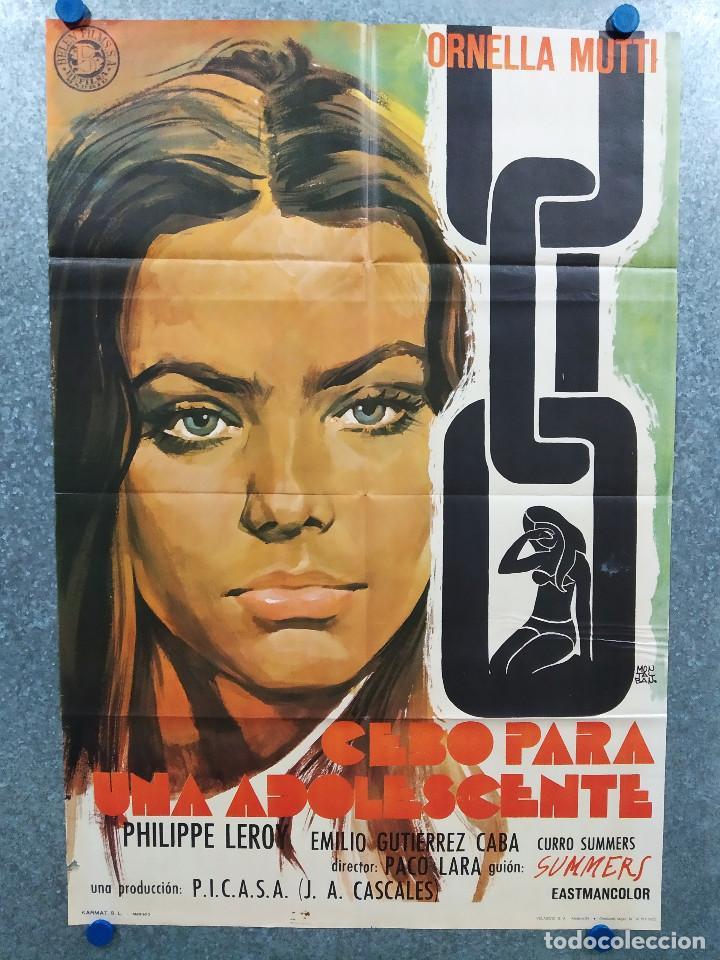 CEBO PARA UNA ADOLESCENTE. CLAUDIA CARDINALE, EMILIO GUTIÉRREZ CABA. AÑO 1973. POSTER ORIGINAL (Cine- Posters y Carteles - Drama)