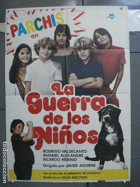 CDO 5116 LA GUERRA DE LOS NIÑOS PARCHIS POSTER ORIGINAL 70X100 ESTRENO (Cine - Posters y Carteles - Clasico Español)