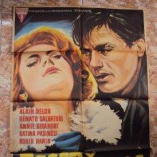 Cine: (CINE-529)CARTEL ORIGINAL ROCO Y SUS HERMANOS ALAIN DELON. Lote 218011430