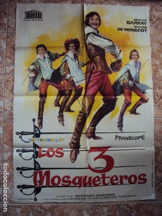 (CINE-531)CARTEL CINE LOS 3 MOSQUETEROS GERARD BARRAY MYLENE DE MONGEOT 1962 (Cine - Posters y Carteles - Aventura)