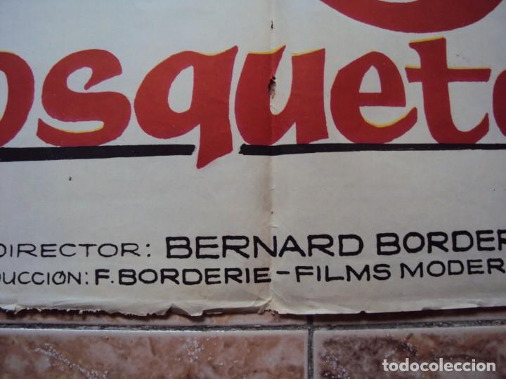 Cine: (CINE-531)CARTEL CINE LOS 3 MOSQUETEROS GERARD BARRAY MYLENE DE MONGEOT 1962 - Foto 3 - 218011821