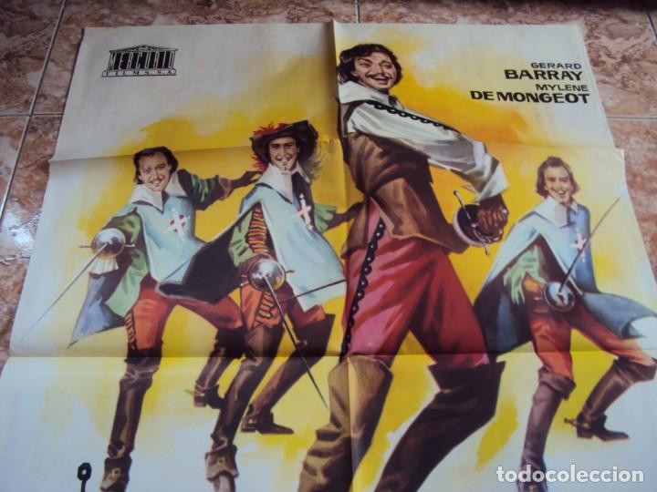 Cine: (CINE-531)CARTEL CINE LOS 3 MOSQUETEROS GERARD BARRAY MYLENE DE MONGEOT 1962 - Foto 5 - 218011821
