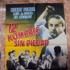 Cine: (CINE-533)12 HOMBRES SIN PIEDAD. HENRY FONDA-SIDNEY LUMET. CARTEL ORIGINAL. Lote 218012491