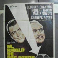 Cine: CDO 5125 EL RUBLO DE DOS CARAS ROBERT TAYLOR CHARLES BOYER MCP POSTER ORIGINAL 70X100 ESTRENO. Lote 218014151