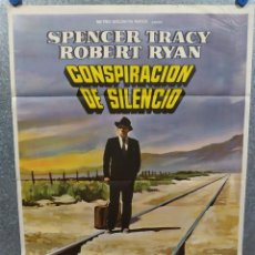 Cine: CONSPIRACIÓN DE SILENCIO. SPENCER TRACY, ROBERT RYAN, LEE MARVIN. AÑO 1972. POSTER ORIGINAL. Lote 218017043