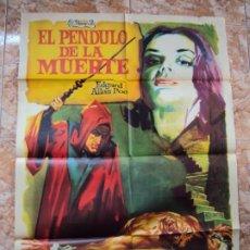 Cine: (CINE-546)CARTEL ORIGINAL EL PENDULO DE LA MUERTE.LA FOSA Y EL PÉNDULO.VINCENT PRICE.BARBARA STELEE.. Lote 218017458