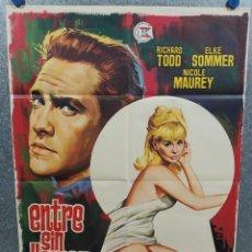 Cine: ENTRE SIN LLAMAR. RICHARD TODD, NICOLE MAUREY, ELKE SOMMER. AÑO 1971. POSTER ORIGINAL. Lote 218018012