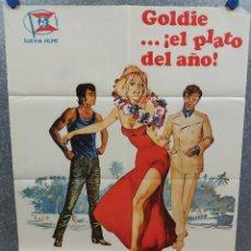 Cine: HAY UNA CHICA EN MI SOPA. PETER SELLERS, GOLDIE HAWN AÑO 1973. POSTER ORIGINAL. Lote 218018166