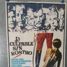 Cine: CULPABLE SIN ROSTRO. MICHAEL YORK, RICHARD ATTENBOROUGH, TREVOR HOWARD. AÑO 1975. POSTER ORIGINAL. Lote 218019785