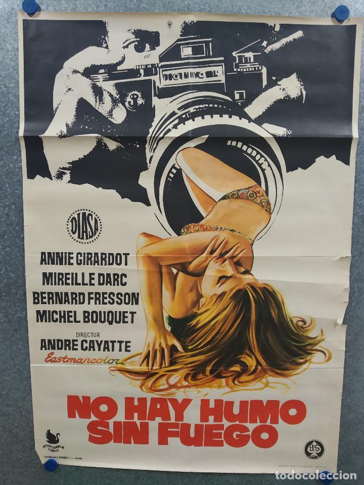 NO HAY HUMO SIN FUEGO. ANNIE GIRARDOT, MIREILLE DARC, BERNARD FRESSON AÑO 1973. POSTER ORIGINAL (Cine- Posters y Carteles - Drama)