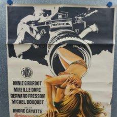 Cine: NO HAY HUMO SIN FUEGO. ANNIE GIRARDOT, MIREILLE DARC, BERNARD FRESSON AÑO 1973. POSTER ORIGINAL. Lote 218020835