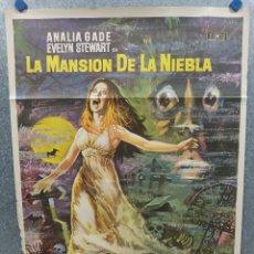 Cine: LA MANSIÓN DE LA NIEBLA IDA GALLI, ANALÍA GADÉ, LISA LEONARDI. AÑO 1972. POSTER ORIGINAL. Lote 218021178