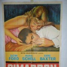 Cine: CIMARRON - 110 X 75 - 1960 - LITOGRAFICO. Lote 218073688