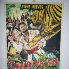 Cine: SANDOKAN - 110 X 75 - 1963 - LITOGRAFICO. Lote 218073892