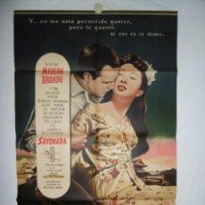 Cine: SAYONARA - 100 X 70 - 1956 - LITOGRAFICO. Lote 218073985