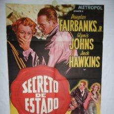 Cine: SECRETO DE ESTADO - 100 X 70 - 1950 - LITOGRAFICO. Lote 218074066
