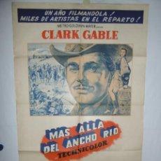 Cine: MAS ALLA DEL ANCHO RIO - 110 X 75 - 1951 - LITOGRAFICO. Lote 218074171
