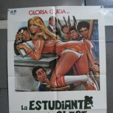 Cine: CDO 5181 LA ESTUDIANTE EN LA CLASE DE LOS SUSPENSOS GLORIA GUIDA SEXY POSTER ORIGINAL 70X100 ESTRENO. Lote 218117060