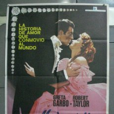Cine: CDO 5184 MARGARITA GAUTIER CAMILLE GRETA GARBO ROBERT TAYLOR POSTER ORIGINAL 70X100. Lote 218122288