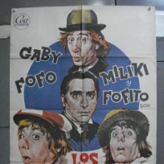 Cine: CDO 5192 LOS PADRINOS GABY FOFO MILIKI MILIKITO POSTER ORIGINAL ESTRENO 70X100. Lote 218132281