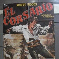 Cine: CDO 5199 EL CORSARIO ROBERT WOODS ARMANDO CALVO POSTER ORIGINAL 70X100 ESTRENO. Lote 218138247