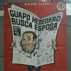 Cine: CDO 5203 GUAPO HEREDERO BUSCA ESPOSA ALFREDO LANDA POSTER ORIGINAL 70X100 ESTRENO. Lote 218139930