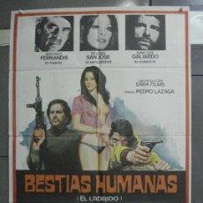 Cine: CDO 5204 BESTIAS HUMANAS MARIA LUISA SANJOSE FERRANDIS GALIARDO POSTER ORIGINAL 70X100 ESTRENO. Lote 218140556